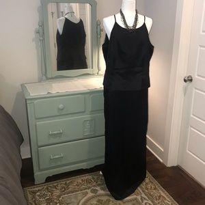 Michaelangelo black floor length formal gown 18